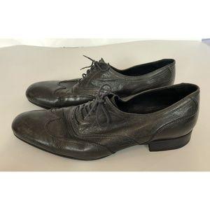 n.d.c. Dark Gray Leather Oxfords Men's Size 44